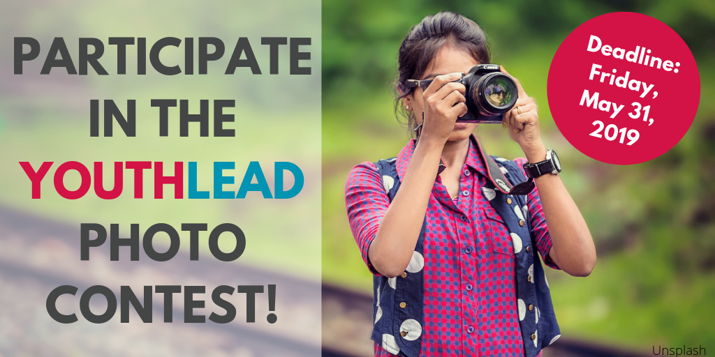 Announcement YouthLead Photo Contest 2019 (Photo: young woman with camera)