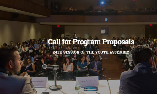 Call for Program Proposals 24TH SESSION OF THE YOUTH ASSEMBLY