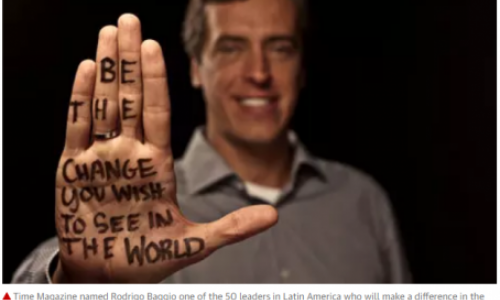 Time Magazine named Rodrigo Baggio one of the 50 leaders in Latin America who will make a difference in the third millennium. Photograph: Skoll World Forum and the Dear World campaign