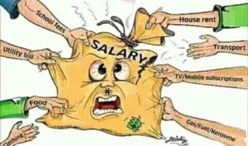 Majority cannot save from the salary.